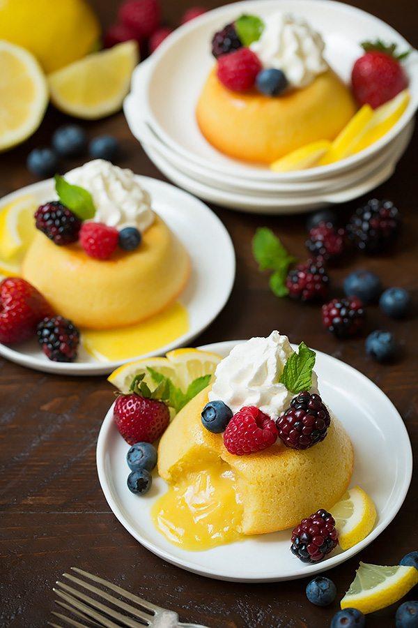 Lemon Molten Lava Cakes | Cooking Classy