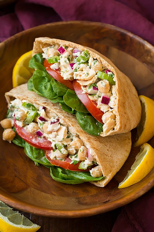 Tuna And Chickpea Pita Pocket Sandwiches Cooking Classy