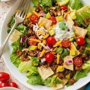 Turkey Black Bean Taco Salad | Cooking Classy
