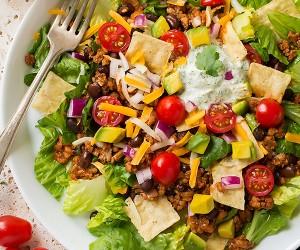 Turkey Black Bean Taco Salad | Cooking Classy