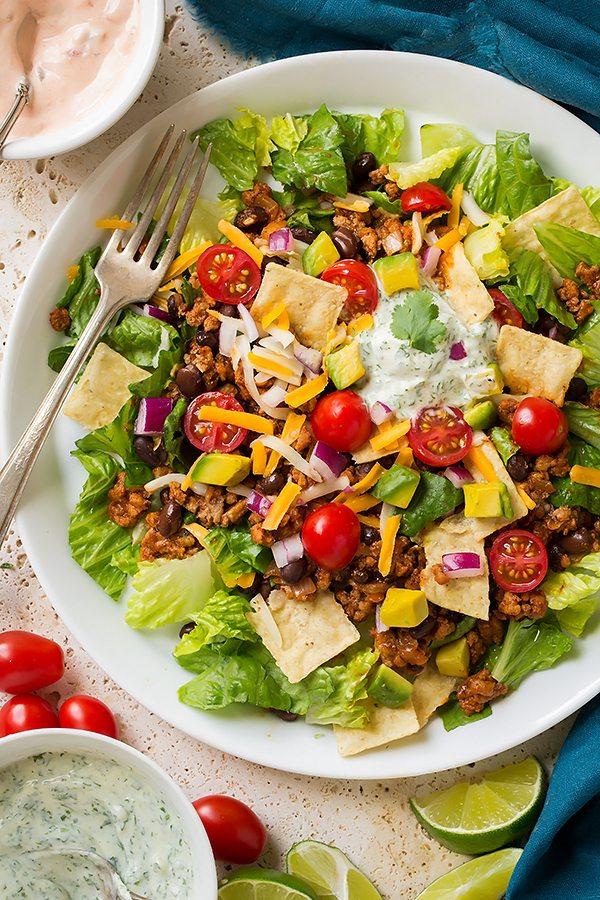 Turkey Black Bean Taco Salad