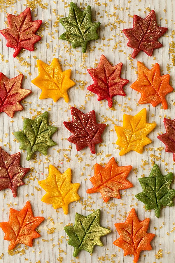 Marzipan Gold Flecked Autumn Leaves