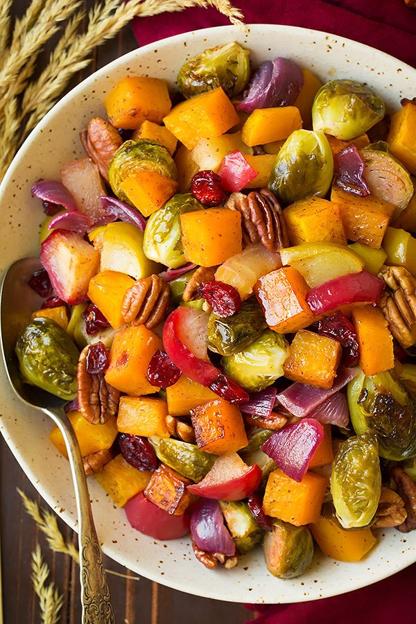 Autumn Roasted Veggies with Apples and Pecans | Cooking Classy