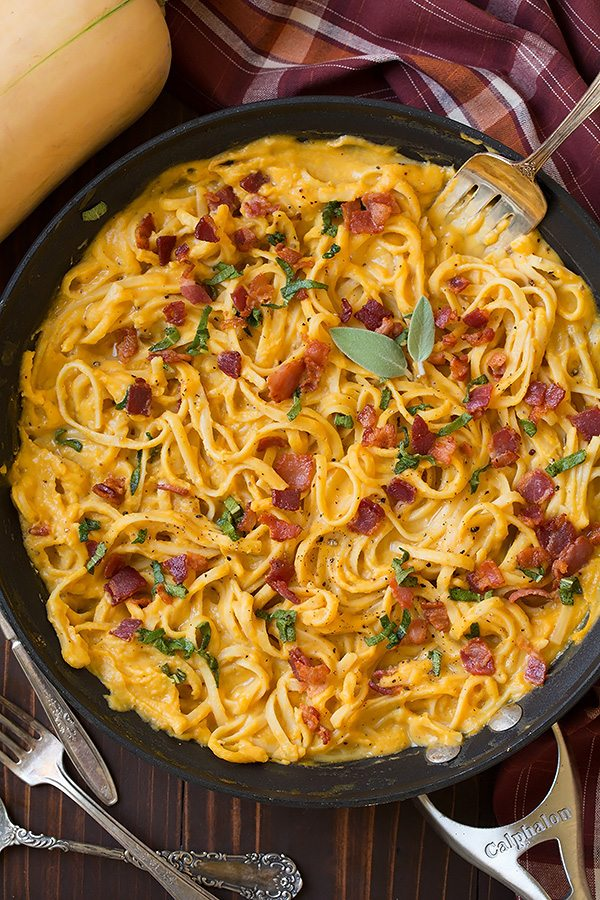 Butternut Squash Pasta Carbonara | Cooking Classy