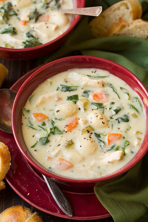 Creamy Chicken And Gnocchi Soup Olive Garden Copycat Cooking Classy