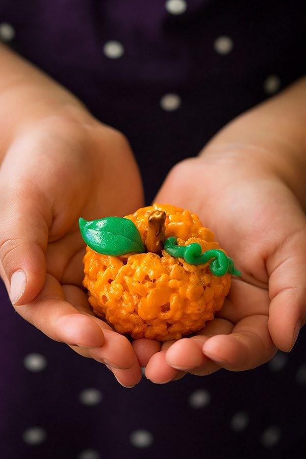 Pumpkin Rice Krispie Treats   Cooking Classy