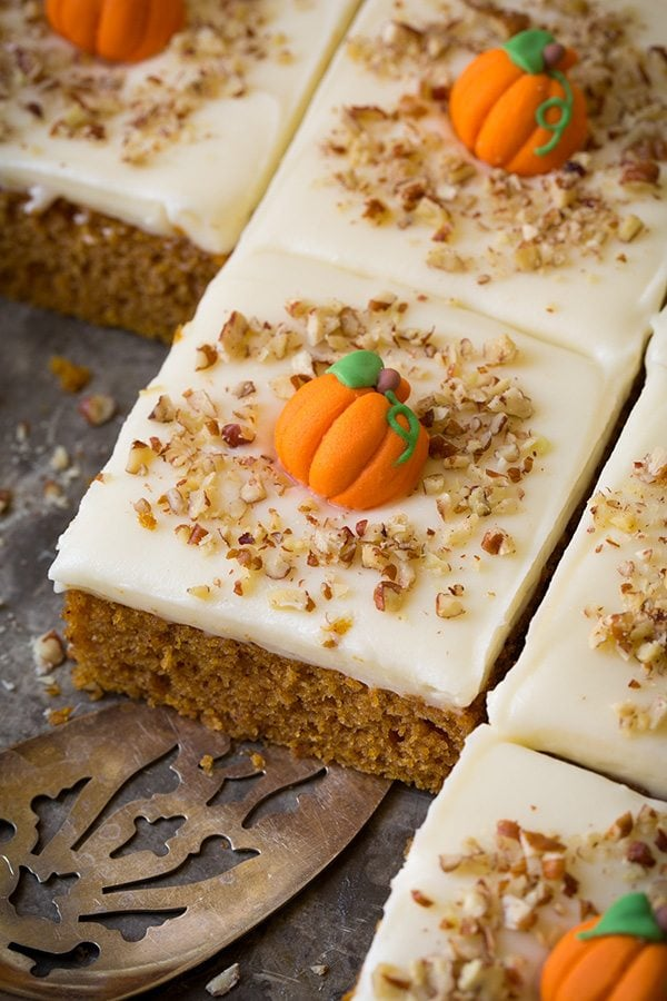 pumpkin sheet cake pumpkin sheet cake with cheese frosting cooking 6861