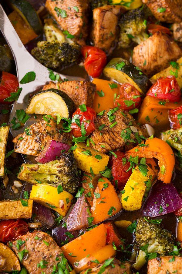 Balsamic Chicken and Veggie Sheet Pan Dinner | Cooking Classy