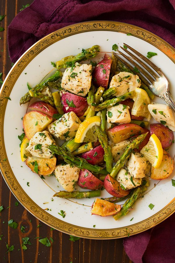 Lemon Chicken Asparagus And Potato Sheet Pan Dinner Cooking Classy