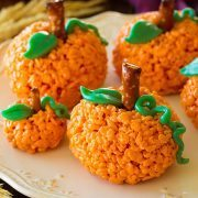 Pumpkin Rice Krispie Treats | Cooking Classy