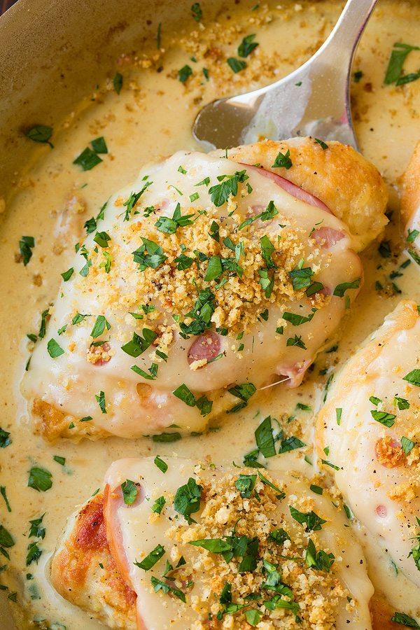 Skillet Chicken Cordon Bleu with Creamy Dijon Sauce | Cooking Classy