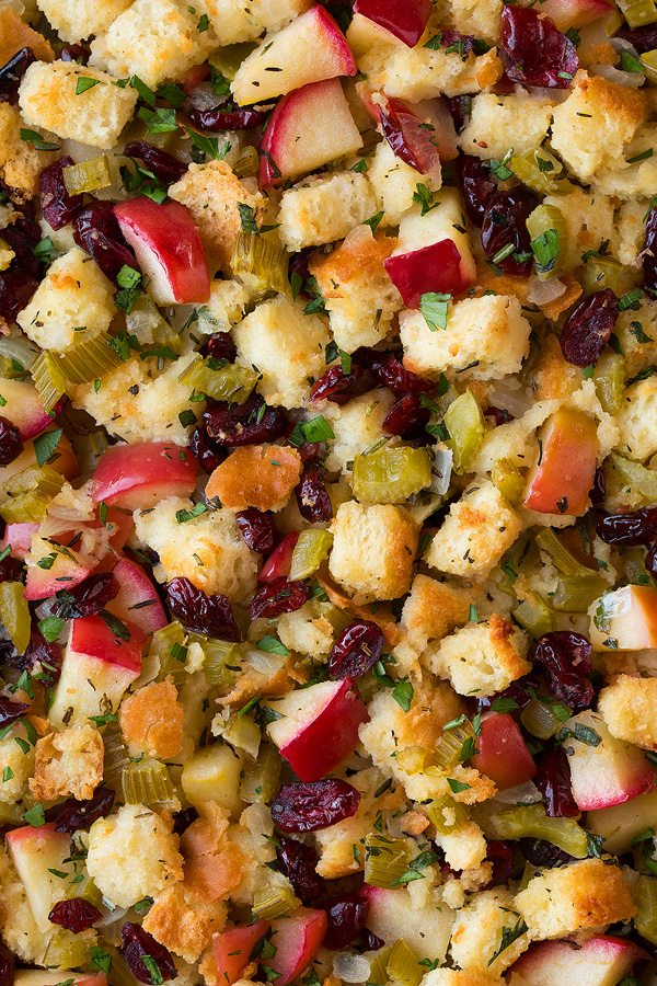Apple Cranberry Rosemary Stuffing | Cooking Classy