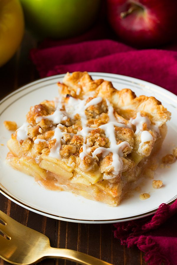 Crumb Topped Apple Slab Pie | Cooking Classy