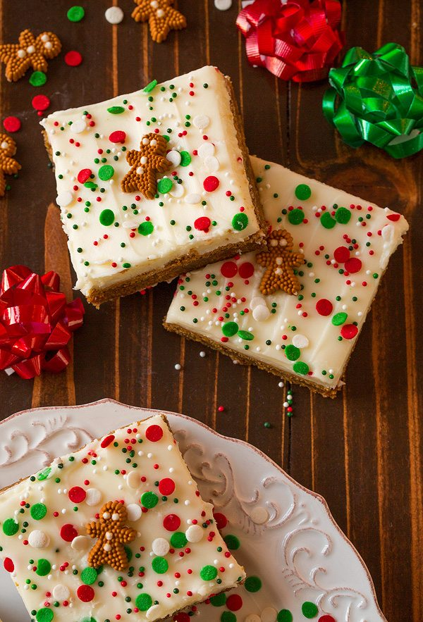 Gingerbread Bars With Cream Cheese Frosting Cooking Classy