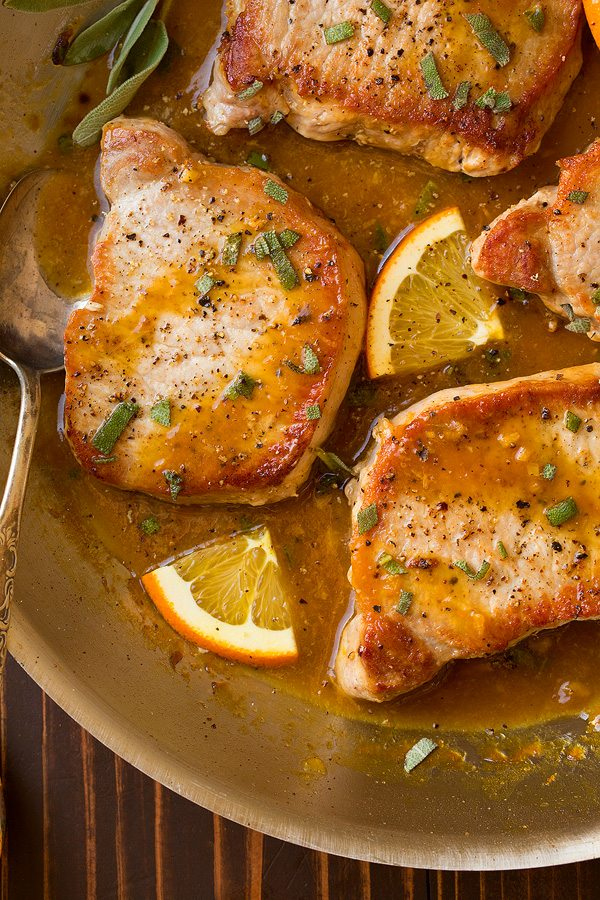 Orange-Sage Pork Chops