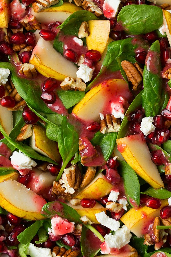 Pear Spinach Salad with Cranberry Orange Vinaigrette   Cooking Classy