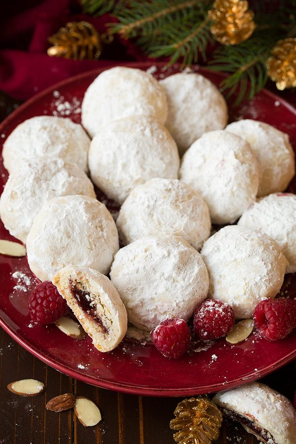 Raspberry Almond Snowball Cookies | Cooking Classy