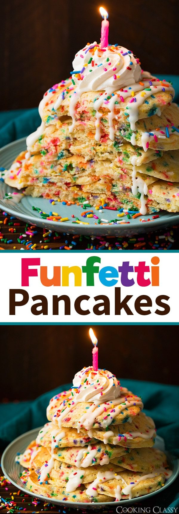 Funfetti Pancakes | Cooking Classy