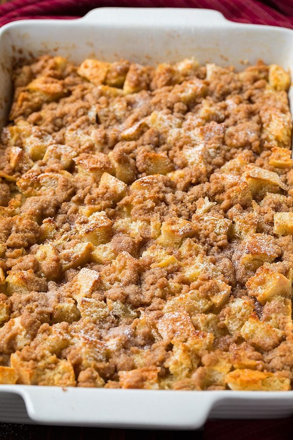 French Toast Casserole in baking dish