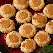 Salted Caramel Coconut Thumbprint Cookies | Cooking Classy