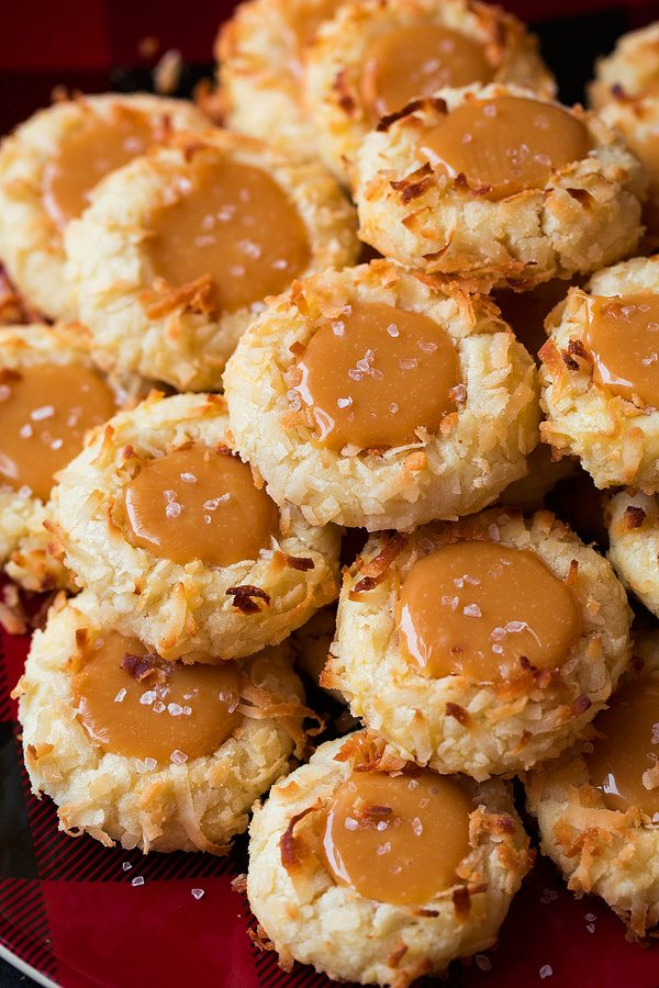 Salted Caramel Coconut Thumbprint Cookies Cooking Classy
