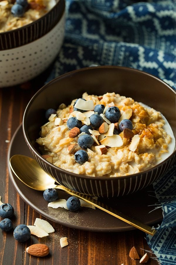Blueberry Coconut Oatmeal | Cooking Classy