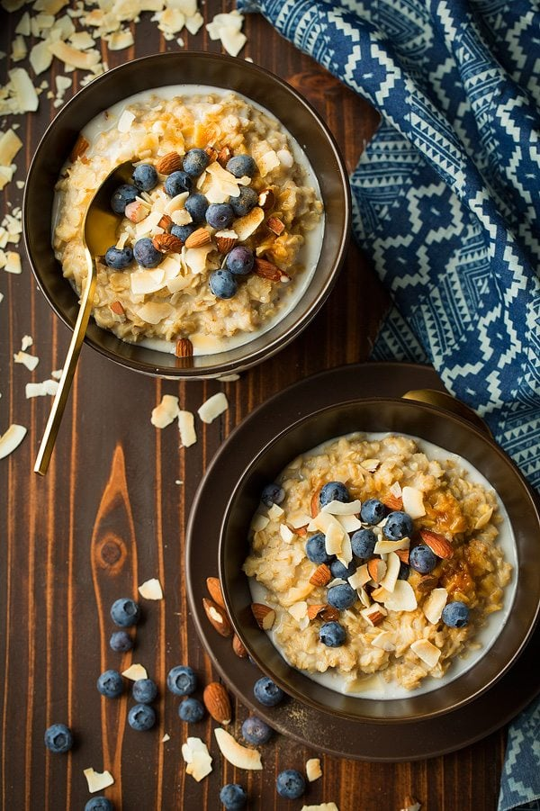 Coconut Blueberry Oatmeal | Cooking Classy
