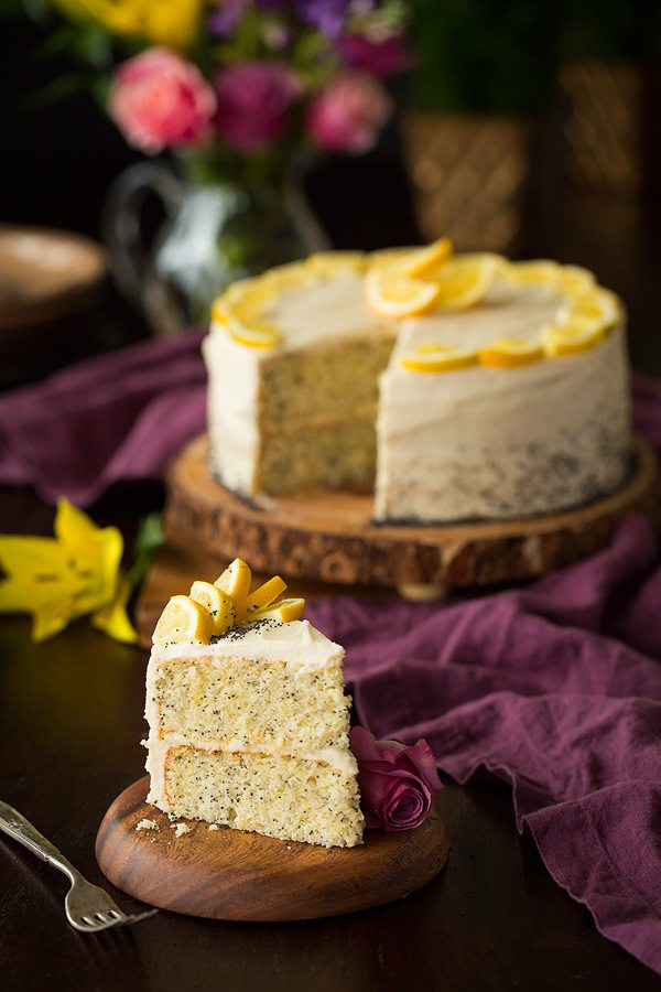 Lemon Poppyseed Cake With Lemon Cream Cheese Frosting