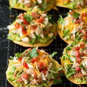 Chicken Guacamole and Bean Tostadas | Cooking Classy