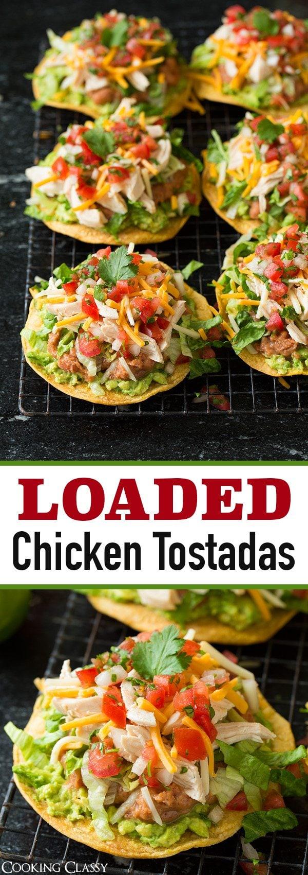 Chicken Guacamole and Bean Tostadas   Cooking Classy