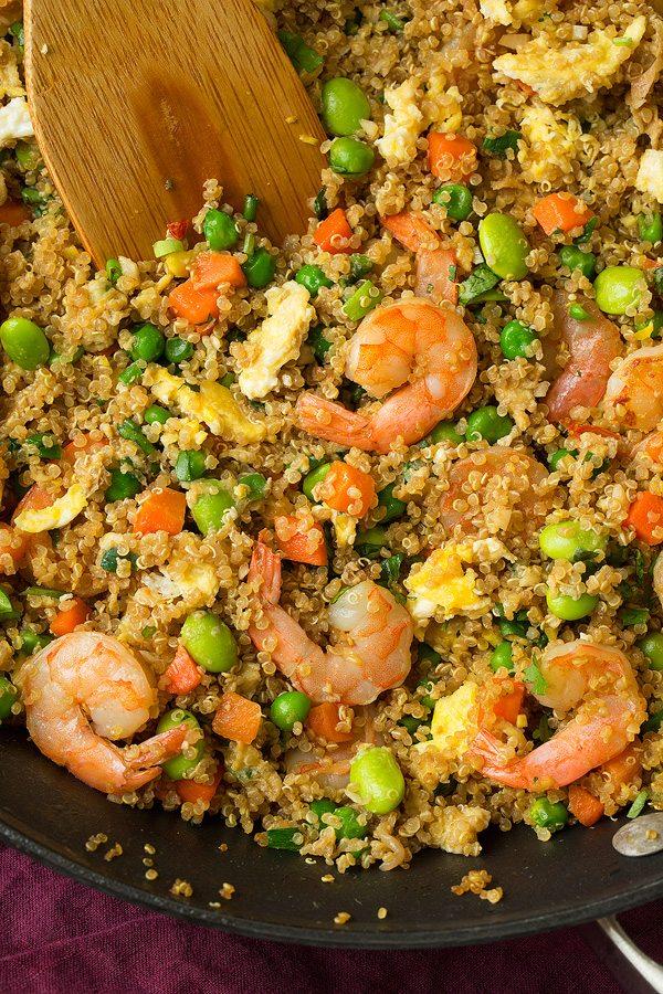Shrimp Quinoa Fried Rice | Cooking Classy