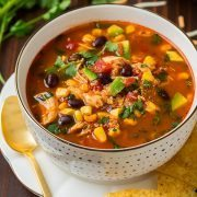Slow Cooker Chicken Enchilada Quinoa Soup | Cooking Classy