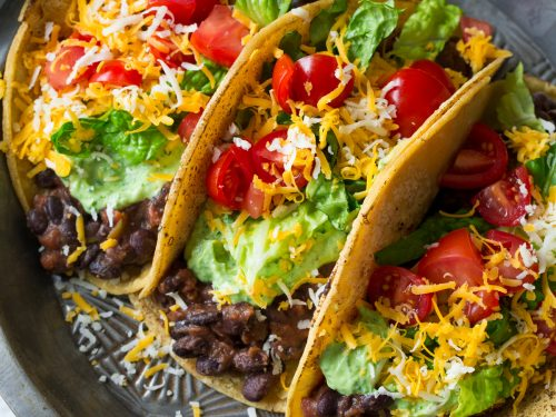 Black Bean Tacos With Avocado Cilantro Lime Crema Cooking Classy