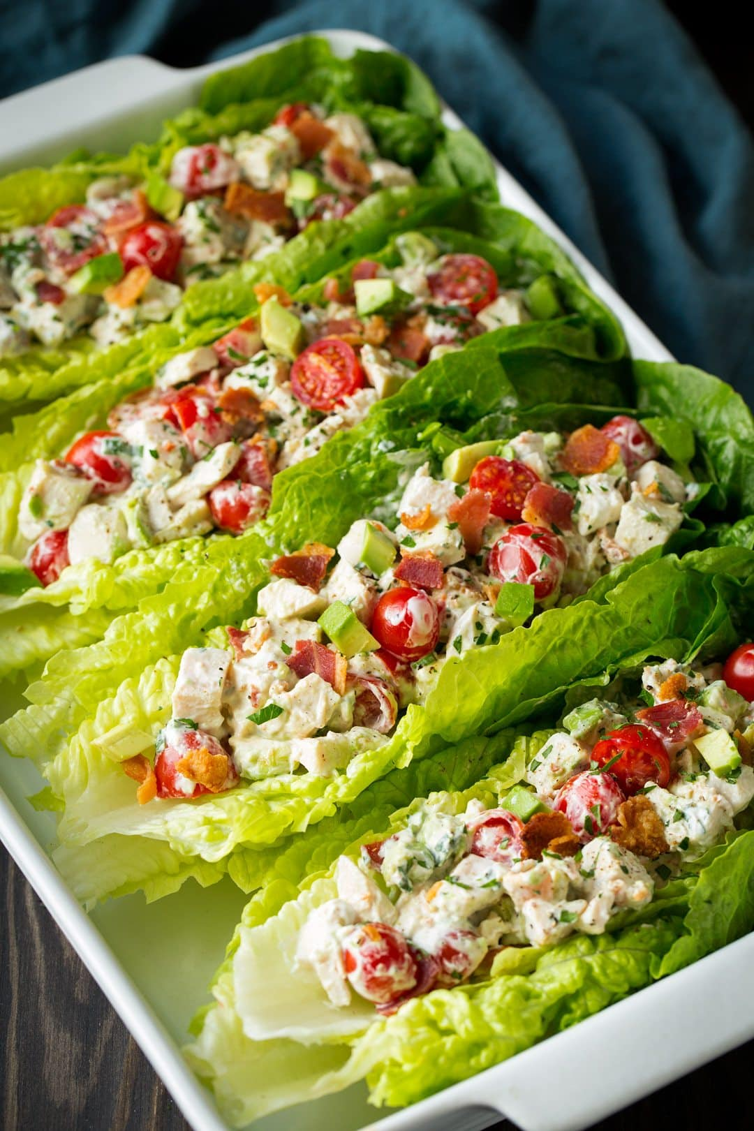 BLTA Chicken Salad Lettuce Wraps - Cooking Classy
