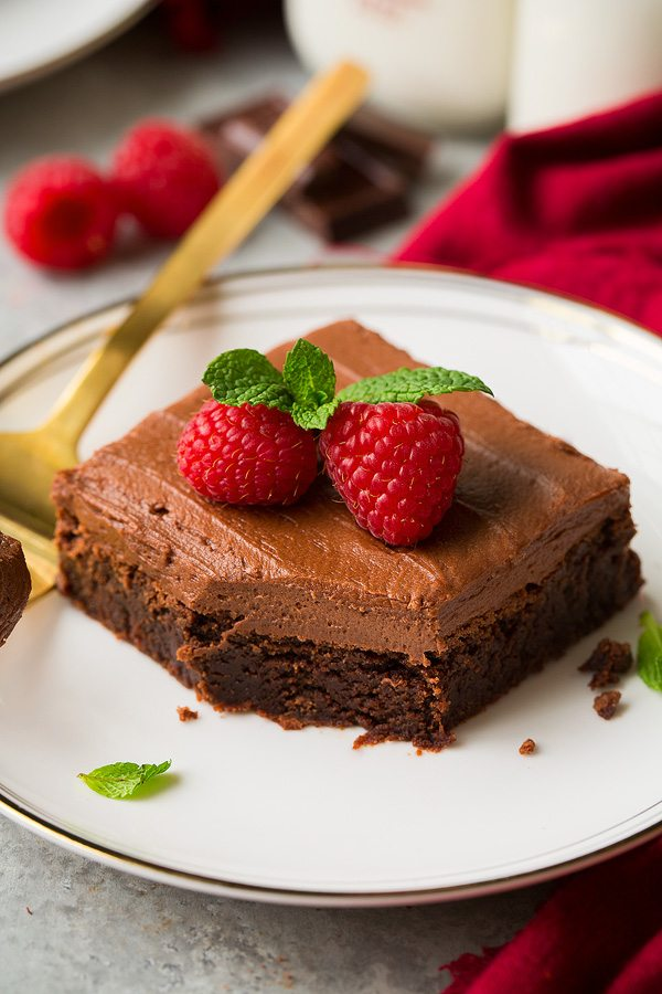 Chocolate Frosted Brownies   Cooking Classy