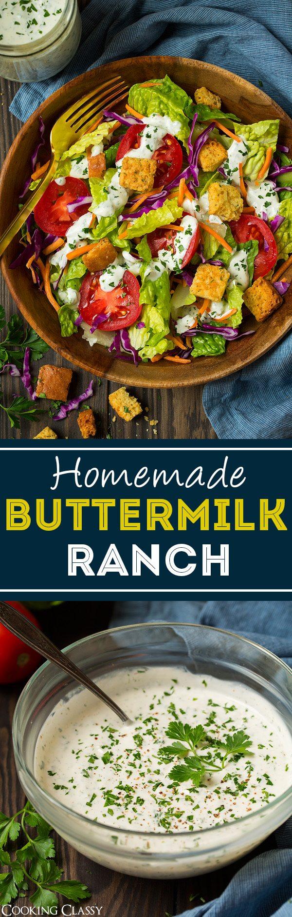 Homemade Buttermilk Ranch | Cooking Classy