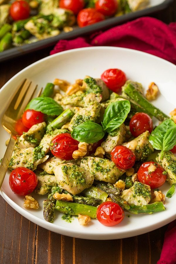 Basil Pesto Chicken With Tomatoes