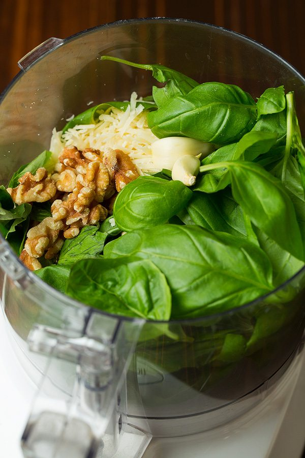 Basil Pesto Chicken Ingredients in Bowl