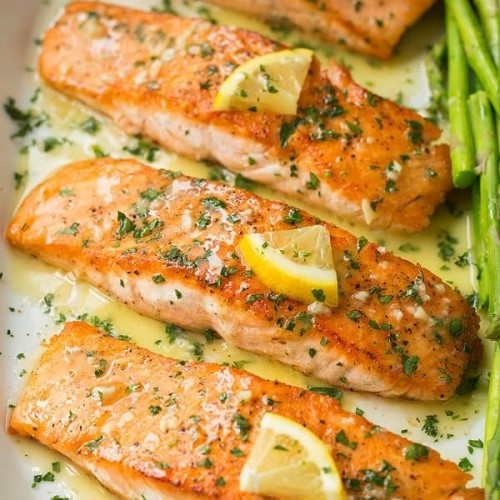 Pan Seared Salmon With Lemon Butter Sauce Cooking Classy