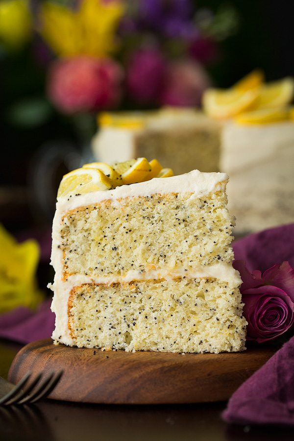 Almond Poppy Seed Cake With Cream Cheese Frosting