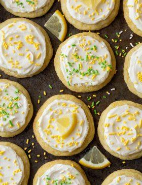 Chewy Lemonade Sugar Cookies