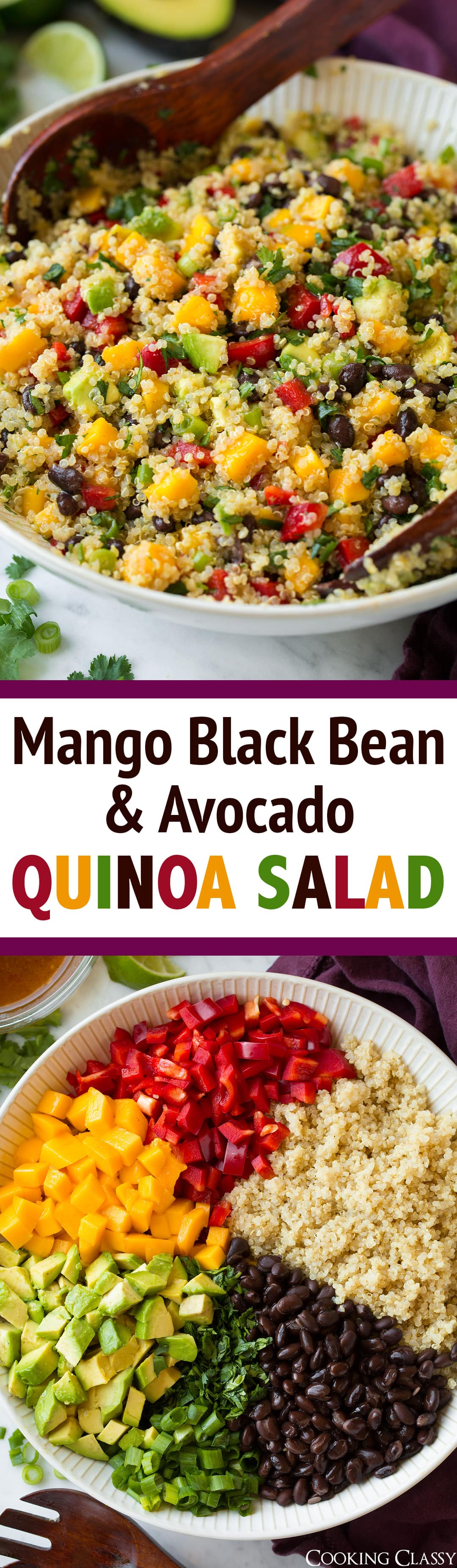 Black Bean, Avocado, And Mango Salad With Cilantro And ...