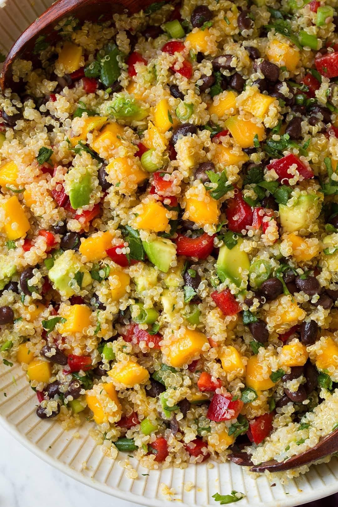 Quinoa Black Bean Salad With Mangos Amp Avocados