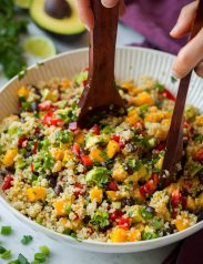 Mango Black Bean and Avocado Quinoa Salad