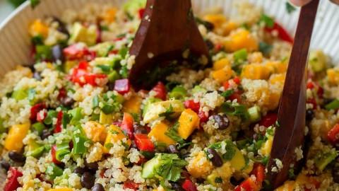 Mango Black Bean and Avocado Quinoa Salad