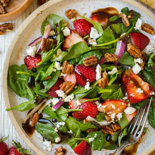 Strawberry Spinach Salad With Balsamic Vinaigrette Cooking Classy