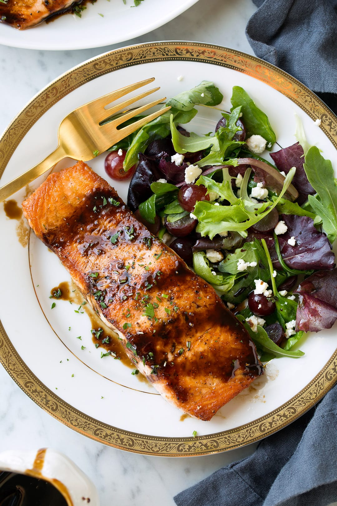 Balsamic Glazed Salmon Homemade Balsamic Glaze Cooking Classy