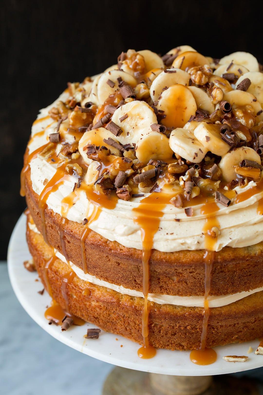 salted caramel cake banana cake with salted caramel frosting cooking 7240