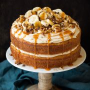 Banana Cake with Salted Caramel Frosting