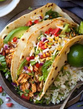 Salsa Chicken Tacos